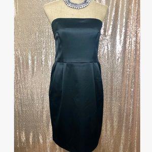 Sleek Strapless Black Cocktail Dress EXPRESS